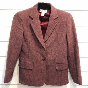 Pendleton Wool Blazer in Mauve